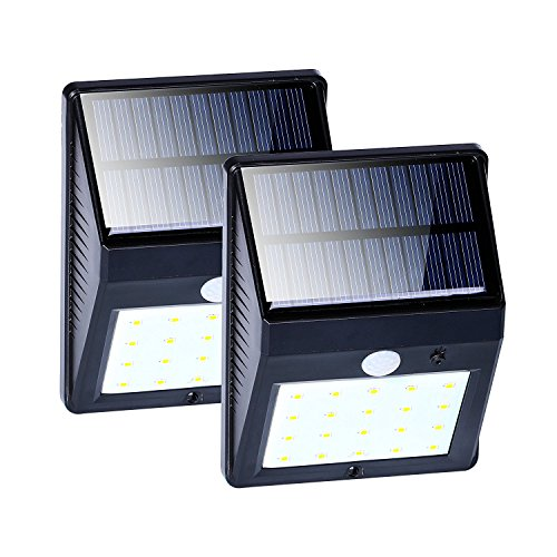 Solar Motion Sensor Lights 20 Led Outdoor Waterproof Security Flood Night Lights For Garden