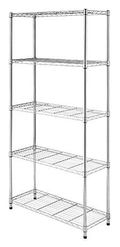 Chrome Amazonbasics 4 Shelf Shelving Unit Onansi
