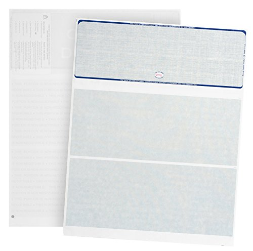 Blank Checks Paper Stock-Checks 3 On A Page-100 Per Pack