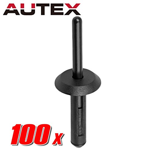 uxcell 200pcs Plastic Rivets Bumper Fender Clips Trim Panel Fasteners Automotive Expansion Screws Kit 7mm 12mm w Remover Removal Tool